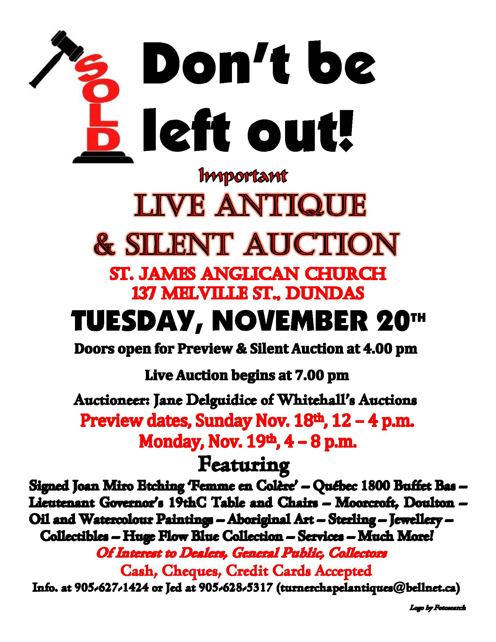 Silent Auction Poster Comments leave a comment; posted in st, james ...