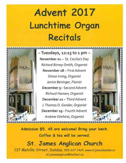 advent lunch organ