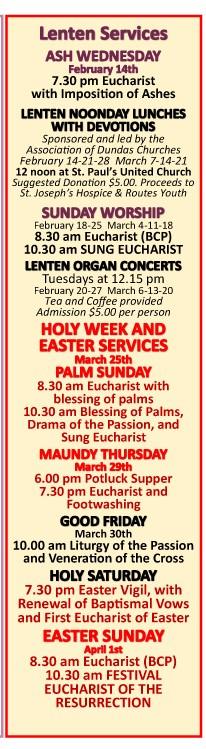 HAPPENINGS - Lent-Easter 2018-1
